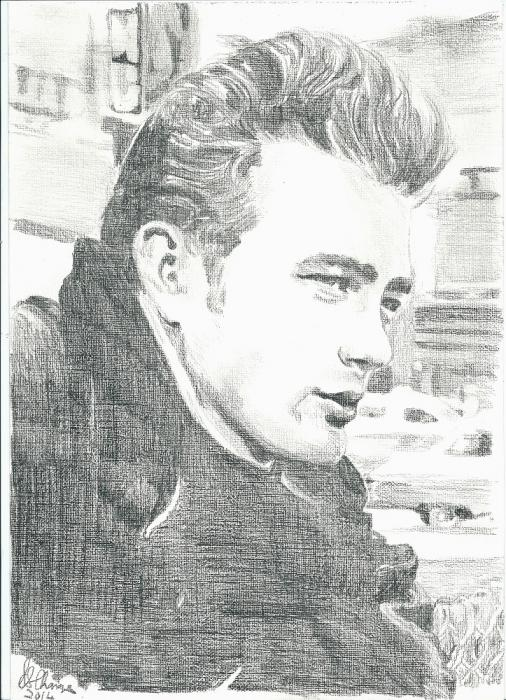 James Dean by Lindasart